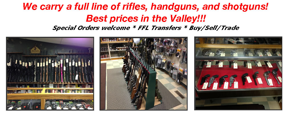 complete line if riifles, handguns, and shotguns