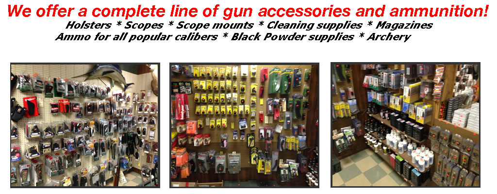 gun accessories, ammo, black powder